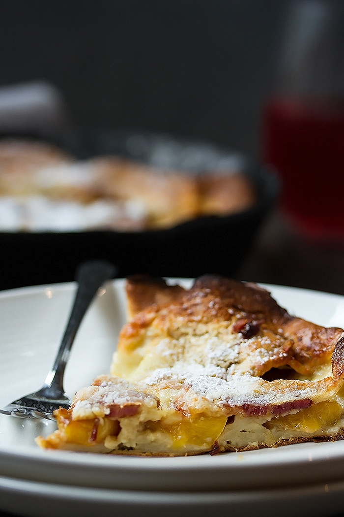 Fluffy Bacon & Peach Dutch Baby Recipe - the Ultimate Brunch Pancakes (1)