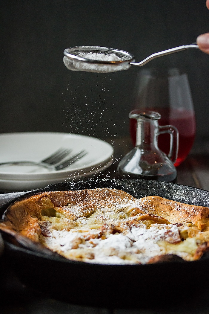 Fluffy Bacon & Peach Dutch Baby Recipe - the Ultimate Brunch Pancakes (6)