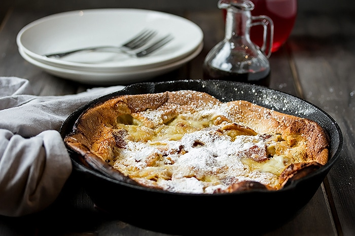 Fluffy Bacon & Peach Dutch Baby Recipe - the Ultimate Brunch Pancakes (7)