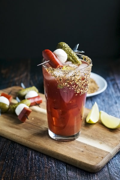 A Classic Caesar Drink Recipe with a Pickle Twist (aka the Best Way to Enjoy a Caesar Ever!)