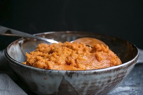 A bowl of instant pot sweet potatoes