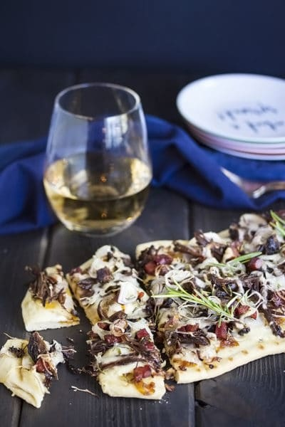 Short Rib Flatbread Pizza with Potato & Bacon