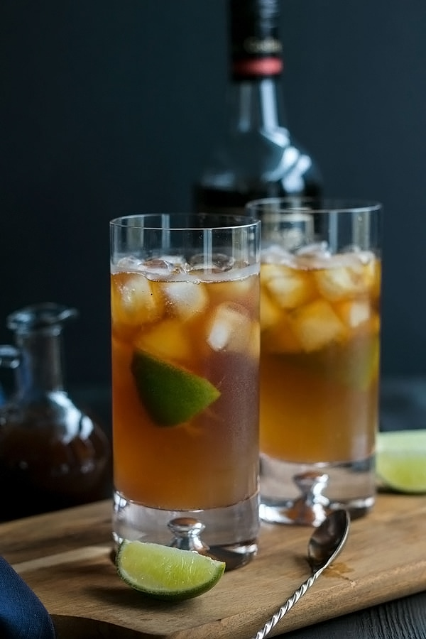 dark and stormy with all the layers stirred together