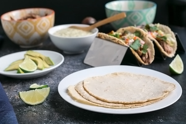 homemade tortillas on a plate