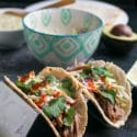 Dutch Oven Pulled Pork Tacos with Creamy Salsa Verde