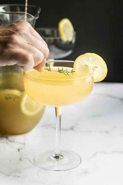 Sparkling Bees Knees Cocktail with Caramelized Honey and Tequila ~ more like a bee sting!