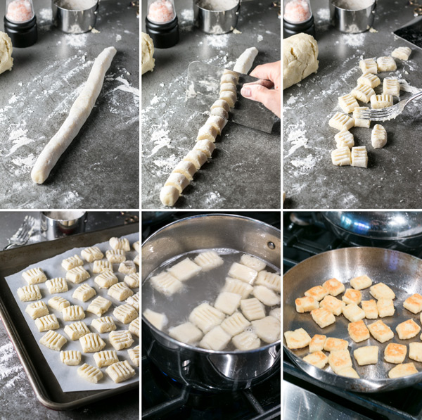 pictures showing how to make homemade gnocchi