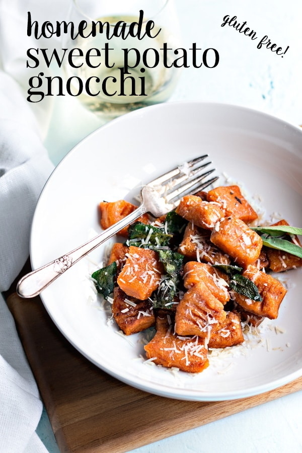 Making gluten free sweet potato gnocchi is one of my favorite ways to spend a Saturday afternoon. Homemade gnocchi tastes so much better than store bought and its a lot easier to make than you might think. Grab a glass of wine and let's make some sweet potato gnocchi. #cookswithcocktails #sweetpotatognocchi #glutenfreegnocchi #homemadegnocchi #gnocchi