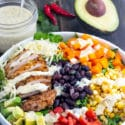 Taco Salad Recipe with Tequila Lime Chicken & Homemade Ranch Dressing