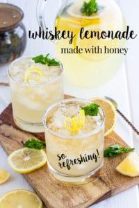Whiskey Lemonade Sweetened with Honey