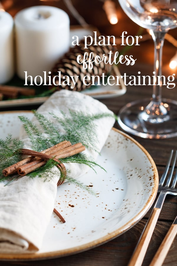 The holiday entertaining season can be a lot of fun, or it can stress you out to no end! We've got a plan and some great tips to get your home organized for easy entertaining so you can get ahead of the game and enjoy your time with friends and family this season. #cookswithcocktails #holidayentertaining #easyentertaining #homeorganization