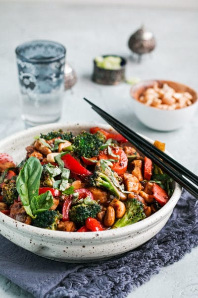 Thai Cashew Chicken Stir Fry with Basil ~ Better than Takeout