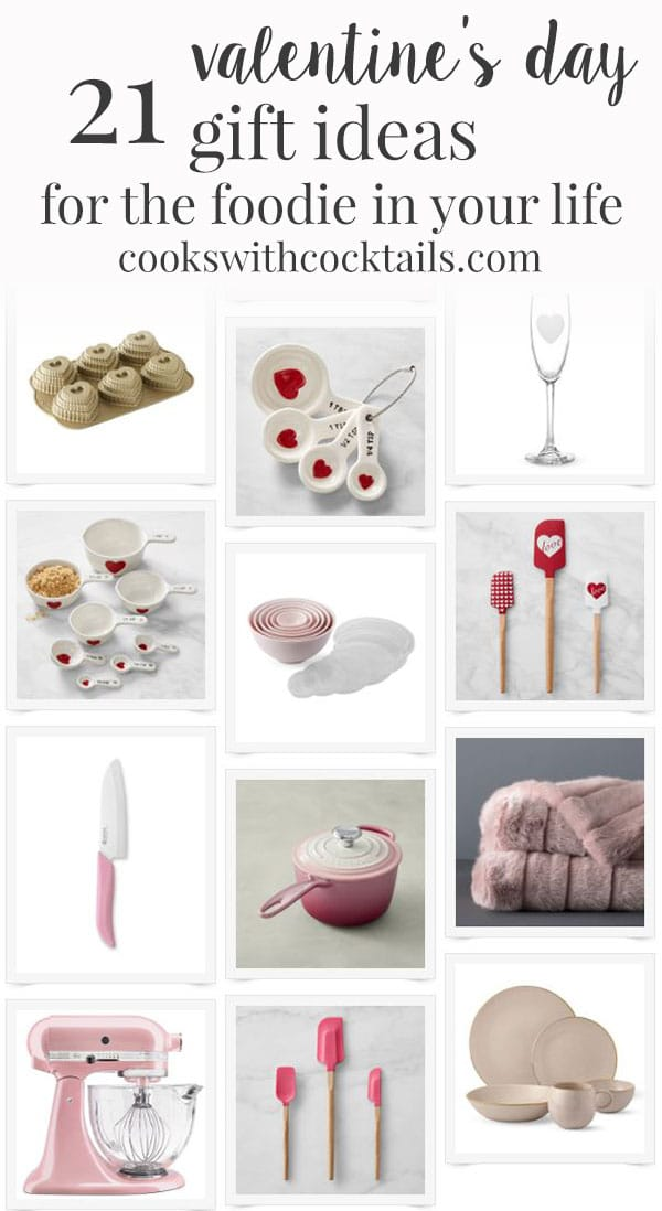 Is your sweetheart an avid home chef? Do you have any food-obsessed friends you are shopping for this Valentine's? Shop from these thoughtful and affordable Valentine's Day gift ideas, and pour yourself a nice glass of wine because you are done, my friend! #cookswithcocktails #valentinesday #valentinesdaygifts #giftideas