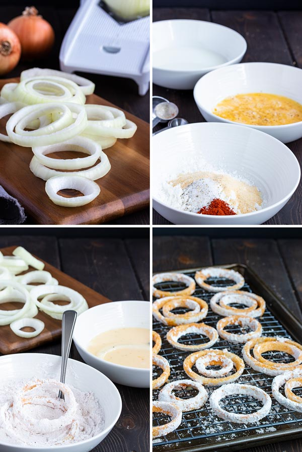 step by step photos on how to make baked onion rings