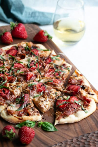 The BEST Strawberry Pizza (Fresh Mozzarella, Basil, & Balsamic)