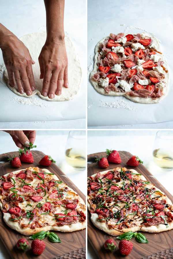 pictures showing how to make strawberry pizza