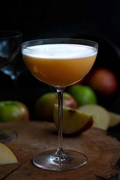Apple Chai Whiskey Sour Cocktail