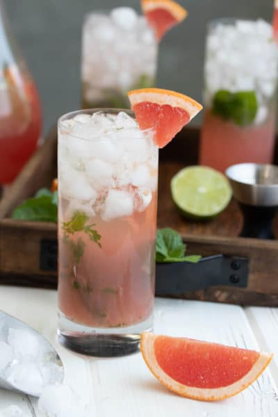 Champagne Mojito Recipe with Grapefruit