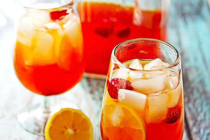 Hard Lemon & Raspberry Iced Black Tea