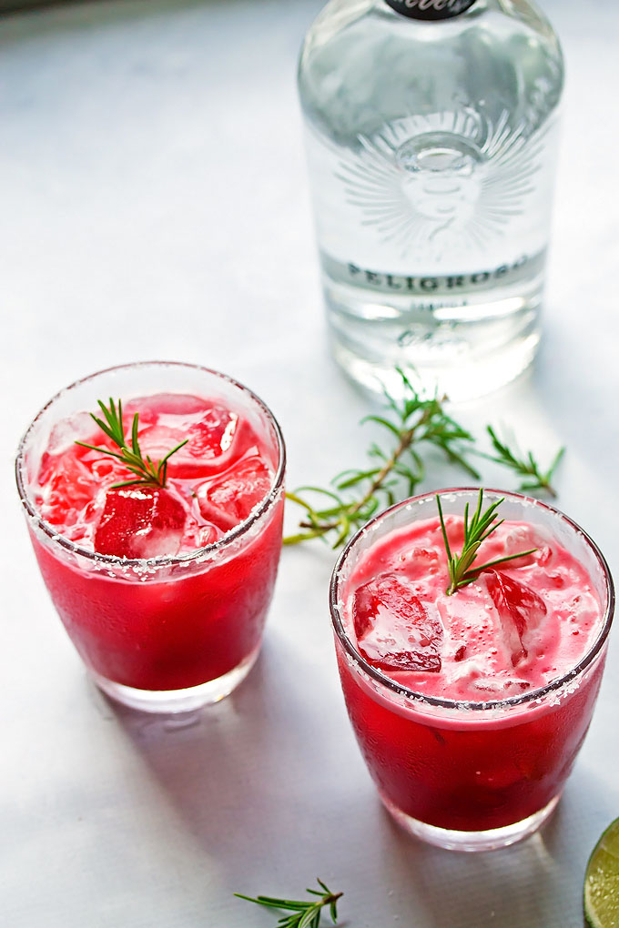 Blackberry and Rosemary Margarita