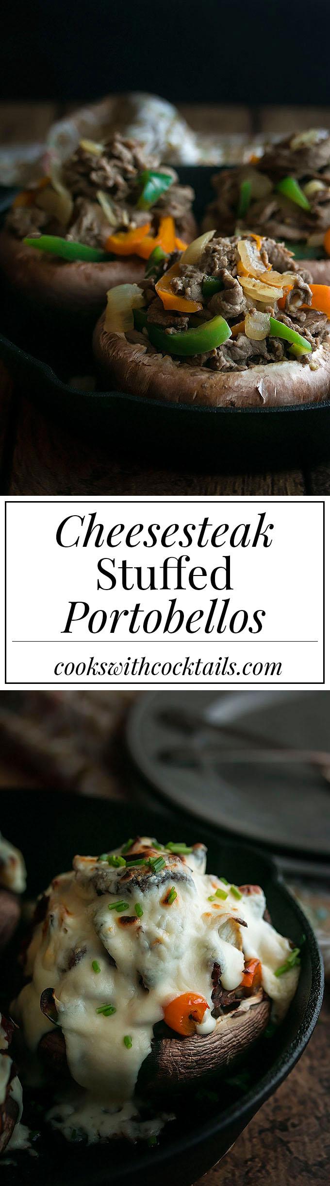 Cheesesteak Stuffed Portobellos
