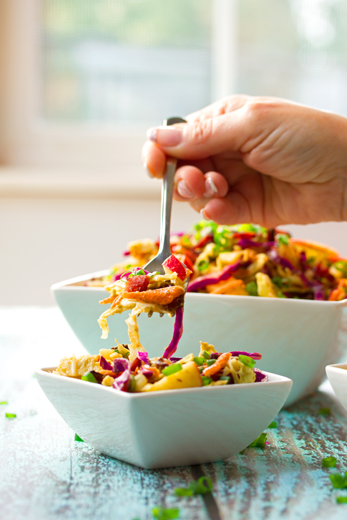 Apple and Bacon Coleslaw with Avocado Dressing