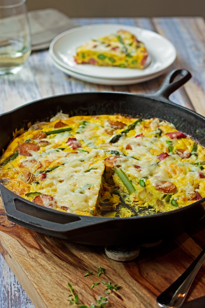 Summer Vegetable And Sausage Frittatas Recipe — Dishmaps