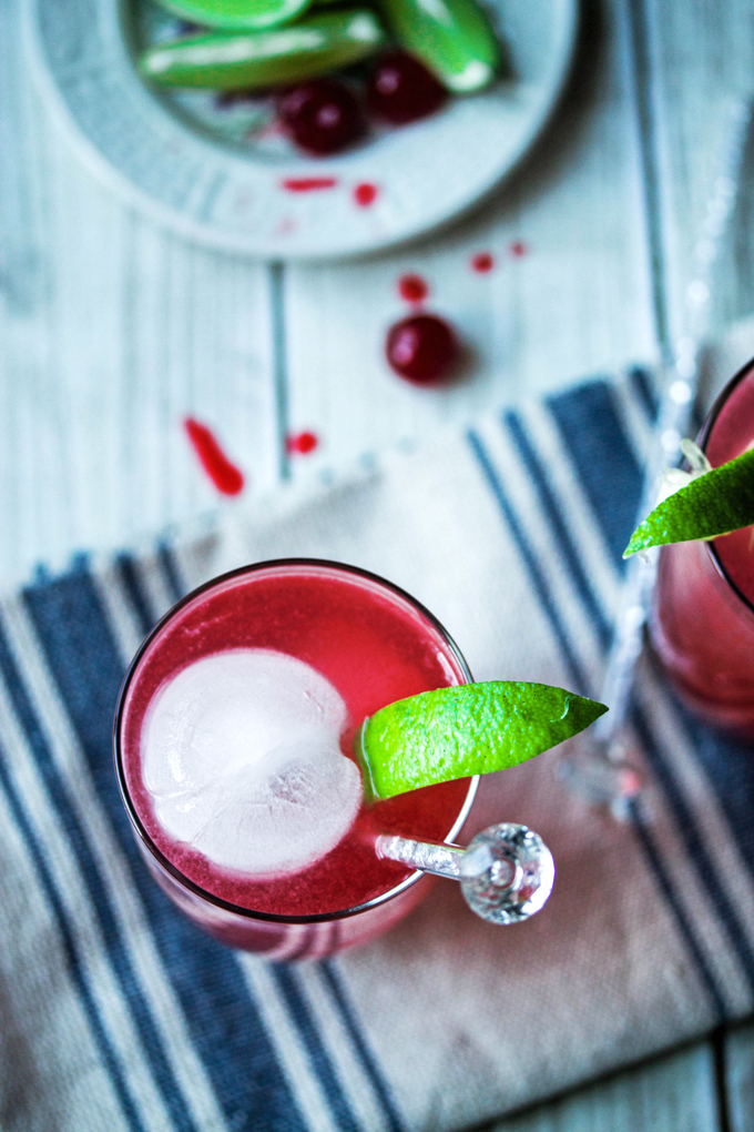 Funky Cherry and Lime Fizz