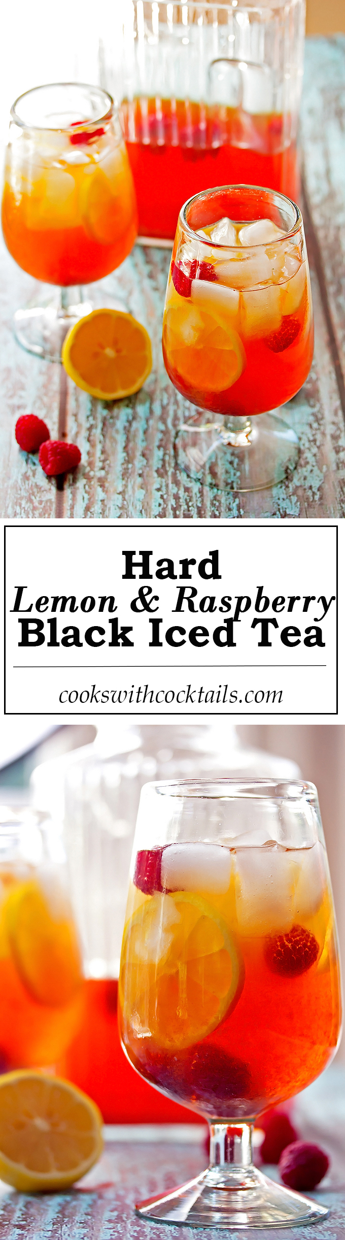 Hard Lemon & Raspberry Iced Black Tea