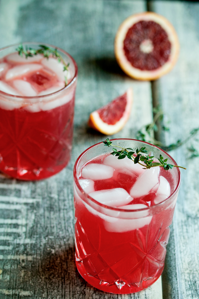 Hard Thyme Infused Blood Orange Lemonade (2)
