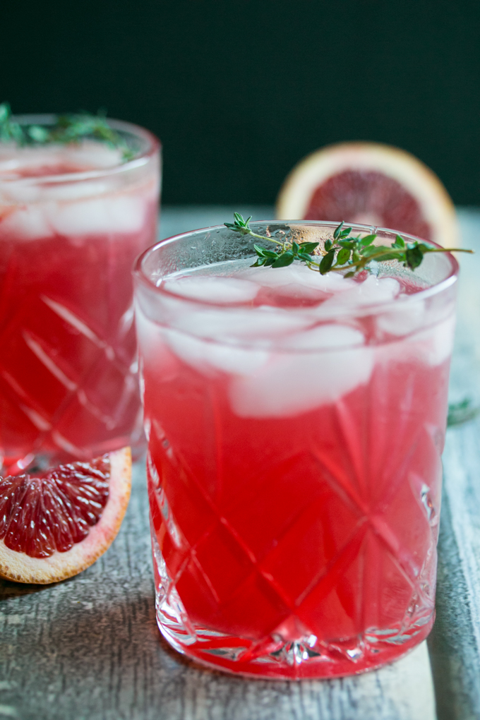 Hard Thyme Infused Blood Orange Lemonade (3)