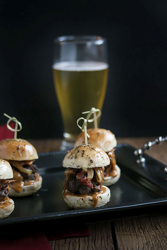 Whiskey Beef Sliders with Homemade Buns
