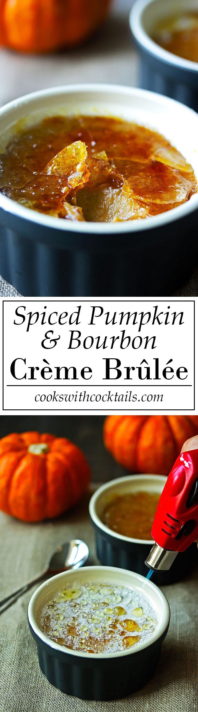 Spiced Pumpkin & Bourbon Crème Brûlée