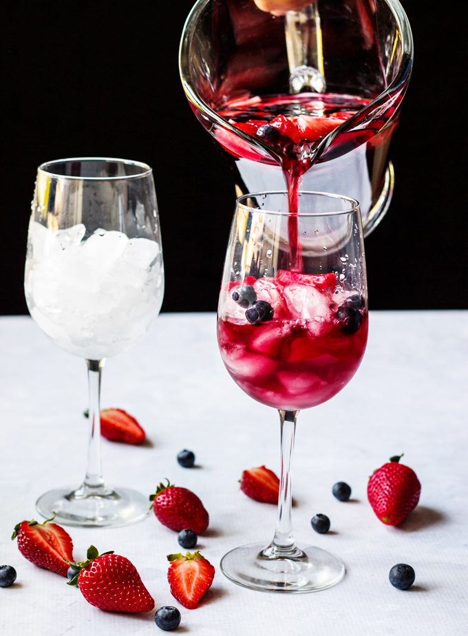 Strawberry Red Wine Sangria A Mother S Day Cocktail