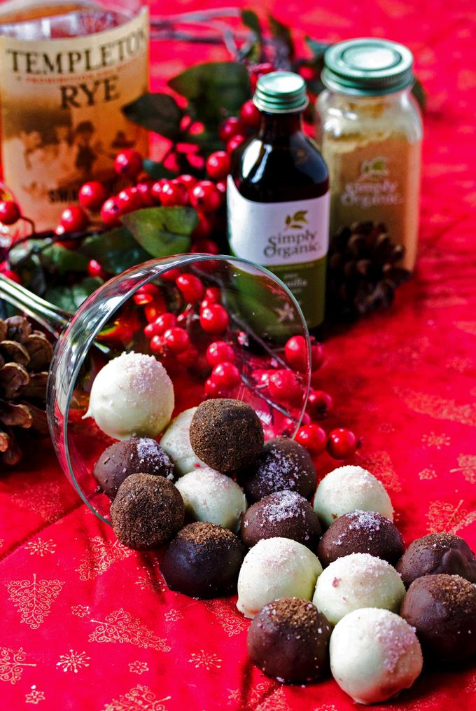 Coffee and Raspberry Truffles