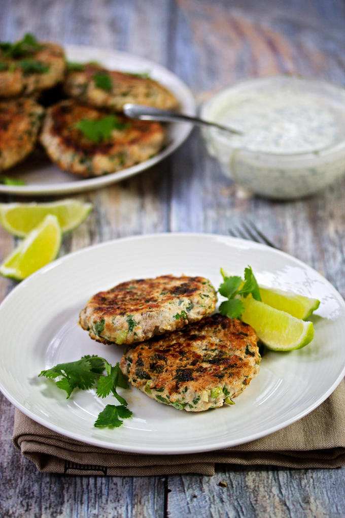 Cilantro Turkey Burgers on a plate