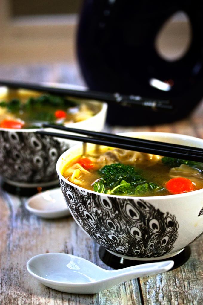 Wor Wonton Soup Recipe with Homemade Wontons