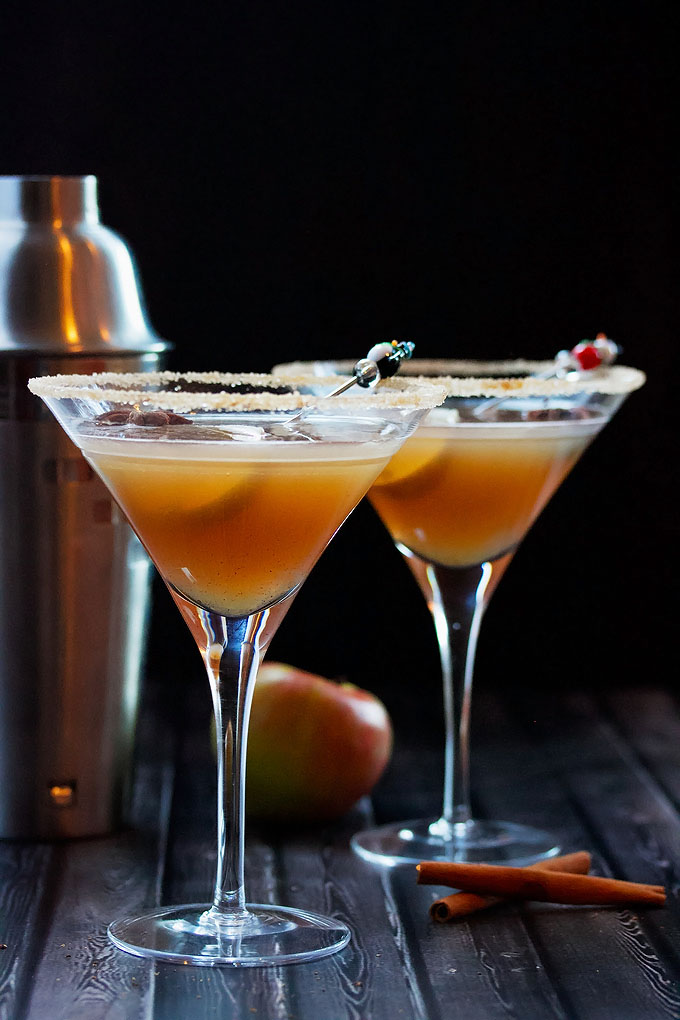 Two Apple Cider Martinis